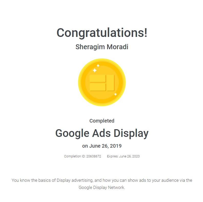 مدرک و گواهینامه دیجیتال مارکتینگ، گوگل